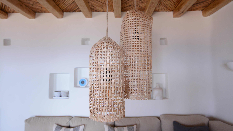 Luxury residence interior rattan hanging lights