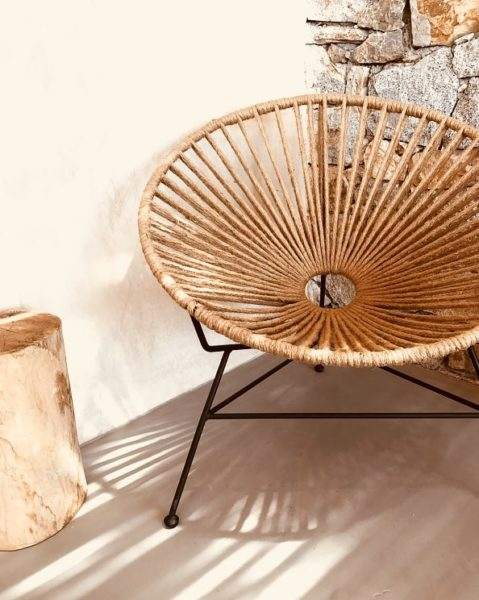 Serifos eco-friendly cottage acapulco hemp chair