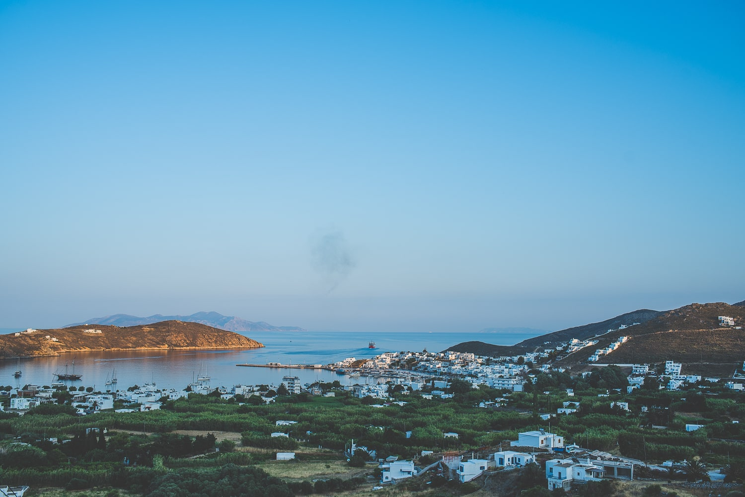 Serifos port view from Hora