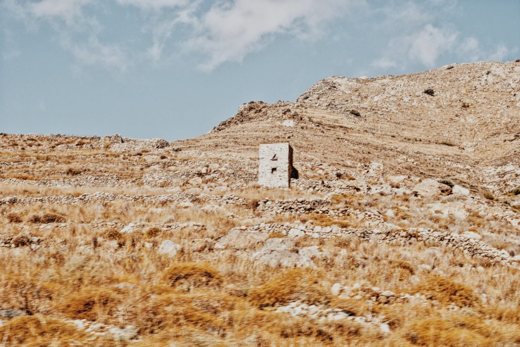 rocky and arid Serifos landscape