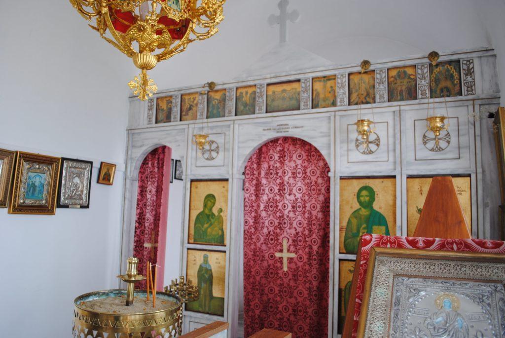 small cycladic chapel interior